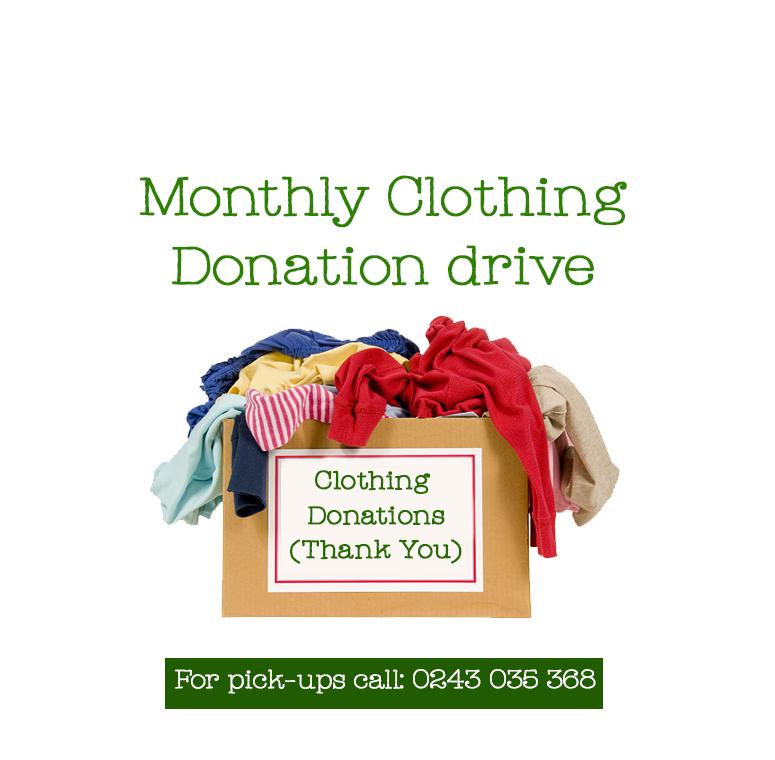 Ahaban Clothing Donation Drive