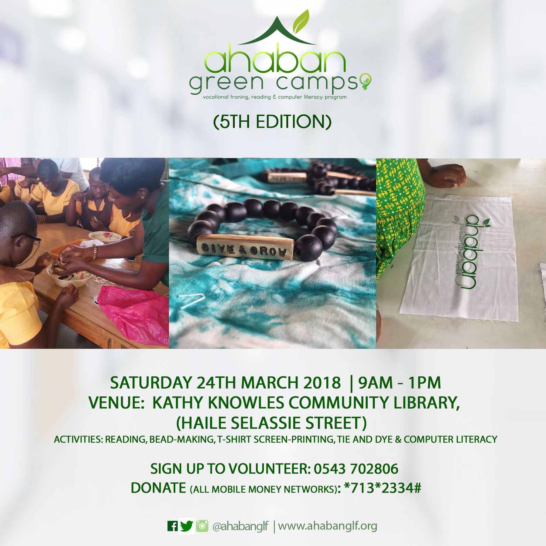 AHABAN green camp flyer