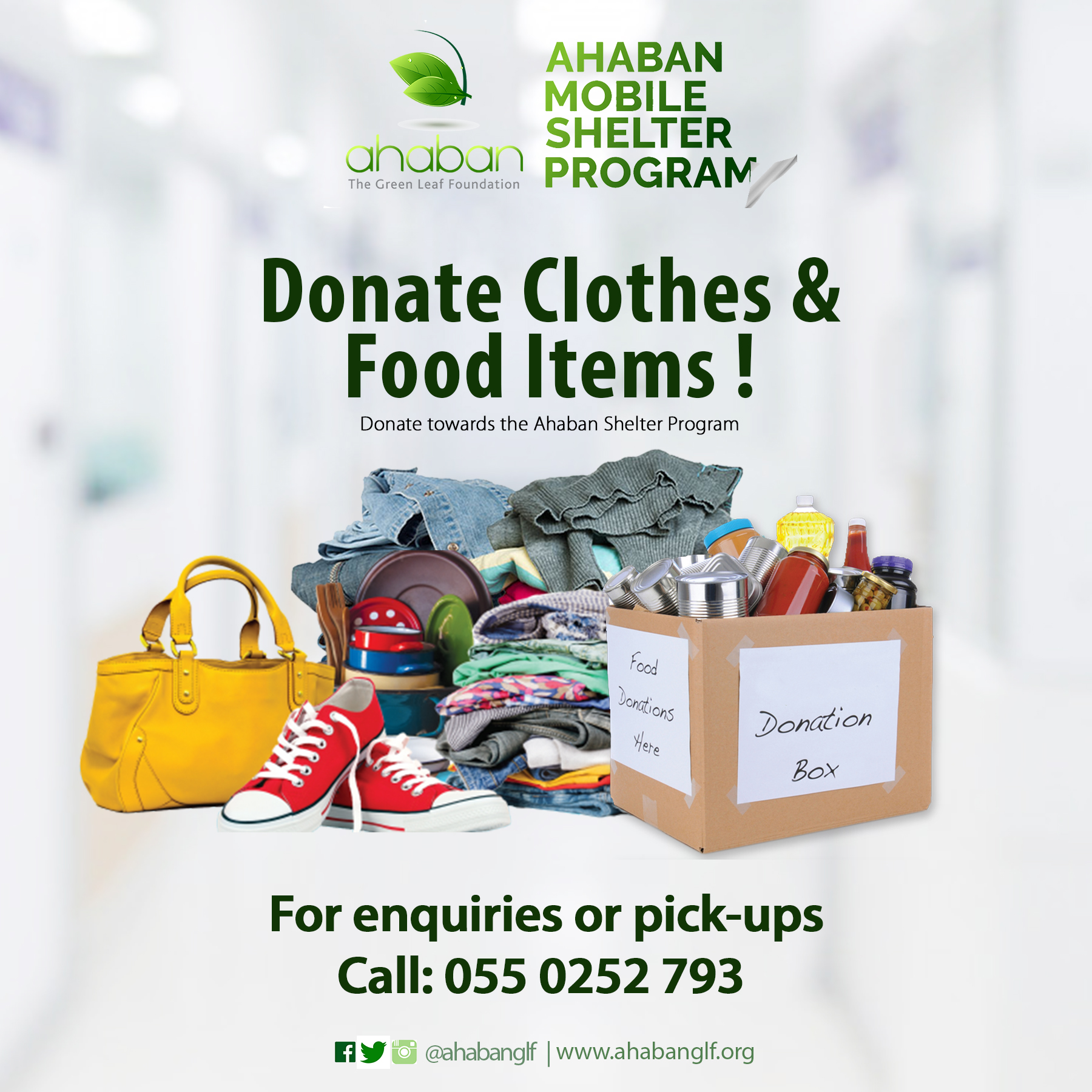 Donate Food & Clothes ahaban