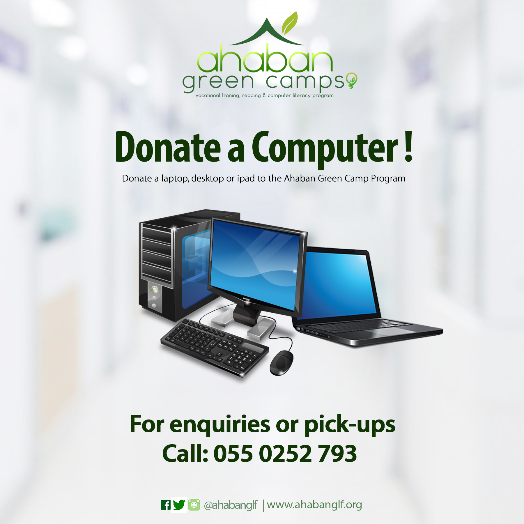 Donate computers ahaban